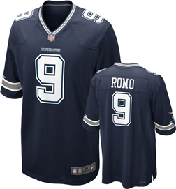 Dallas Cowboys - T. Romo #9 Away Jersey